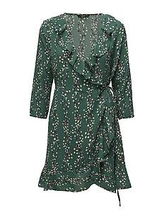 onlDITTE 3/4 WRAP DRESS WVN - POSY GREEN