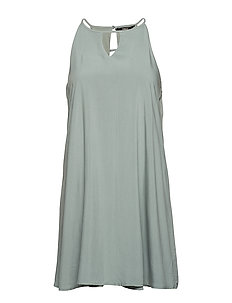 onlLISA S/L PEEP DRESS WVN - CHINOIS GREEN