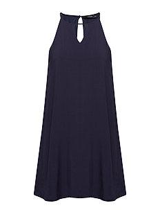onlLISA S/L PEEP DRESS WVN - NIGHT SKY