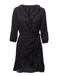 onlPIPPA L/S SHORT DRESS WVN - NIGHT SKY