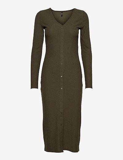 ONLNELLA L/S LONG BUTTON DRESS JRS CS - kesämekot - kalamata
