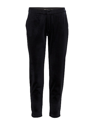 onlBEY VELVET ANKLE PANT PNT - NIGHT SKY