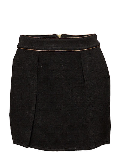 onlVINNO PLAIN LUREX SHORT SKIRT WVN - BLACK