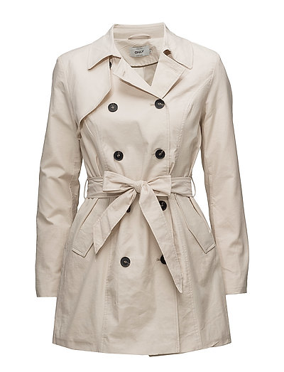 onlLUCY LONG TRENCHCOAT CC OTW - MOONBEAM