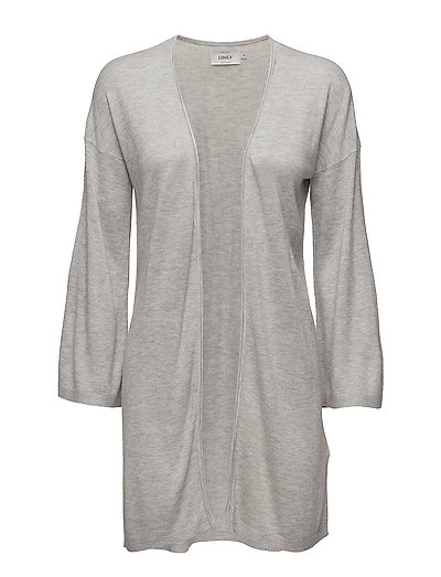 onlSILJE 7/8 LONG CARDIGAN KNT - LIGHT GREY MELANGE