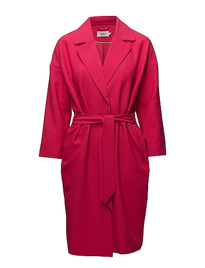 onlCAMILLE 7/8 SPRING COAT OTW - VIRTUAL PINK