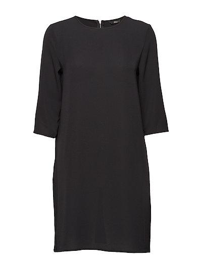 onlVIC 3/4 SOLID DRESS NOOS WVN - BLACK