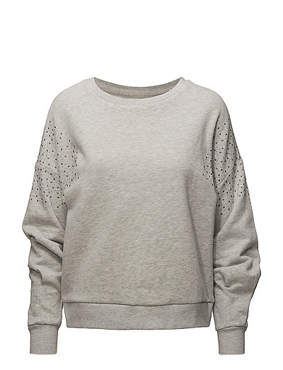 onlJUNE BEAD L/S WRINCKLE SWT - LIGHT GREY MELANGE