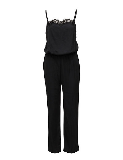 onlDITTO S/L DEEP BACK JUMPSUIT WVN - BLACK