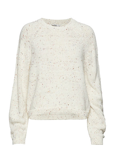 onlINA BALOON L/S  KNIT - CLOUD DANCER