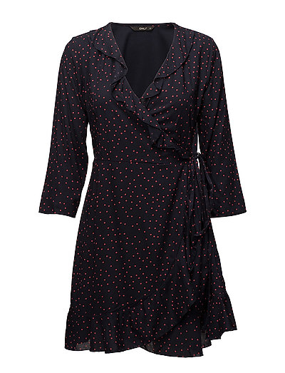 ONLY onlEMMA 3/4 WRAP DRESS WVN