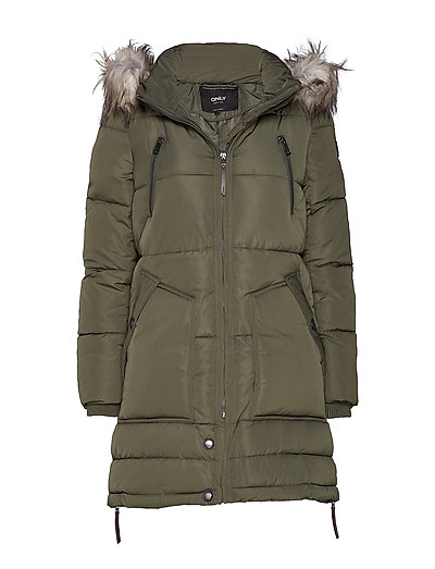 ONLY Onlrhoda Winter Coat Otw Gefütterter Mantel Grün ONLY