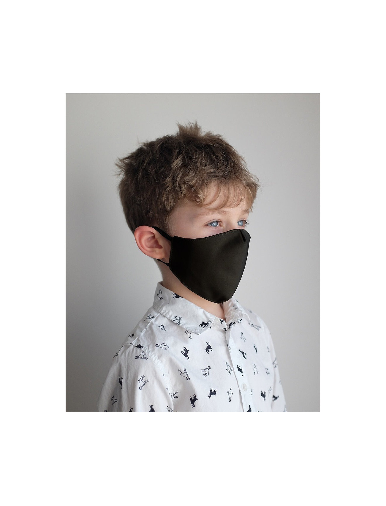 ORAS24 - Reusable face mask,2 pack, Kids 2-13 - gezicht maskers - black - 0