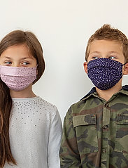 ORAS24 - Reusable 3 layer Classic Face Mask Kids - maski na twarz - rose star print + blue star print - 0