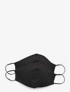 Reusable face mask 2-pack - ansiktsmasker - black
