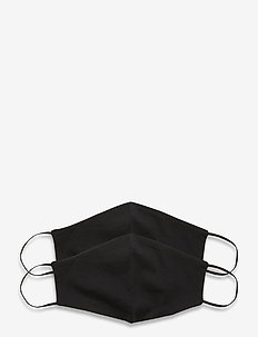 Reusable face mask 2-pack - munskydd - black