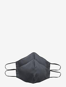 Reusable face mask 2-pack - ansiktsmasker - dark grey