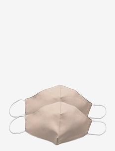 Reusable face mask 2-pack - ansiktsmasker - nude
