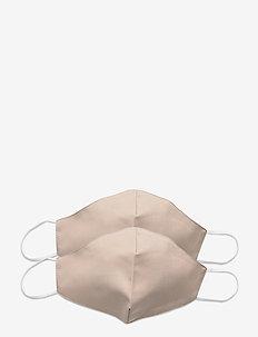 Reusable face mask 2-pack - kasvomaskit - nude
