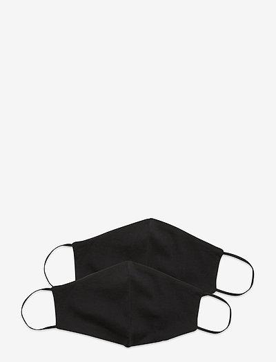 Reusable face mask,2 pack, Kids 2-13 - ansiktsmasker - black