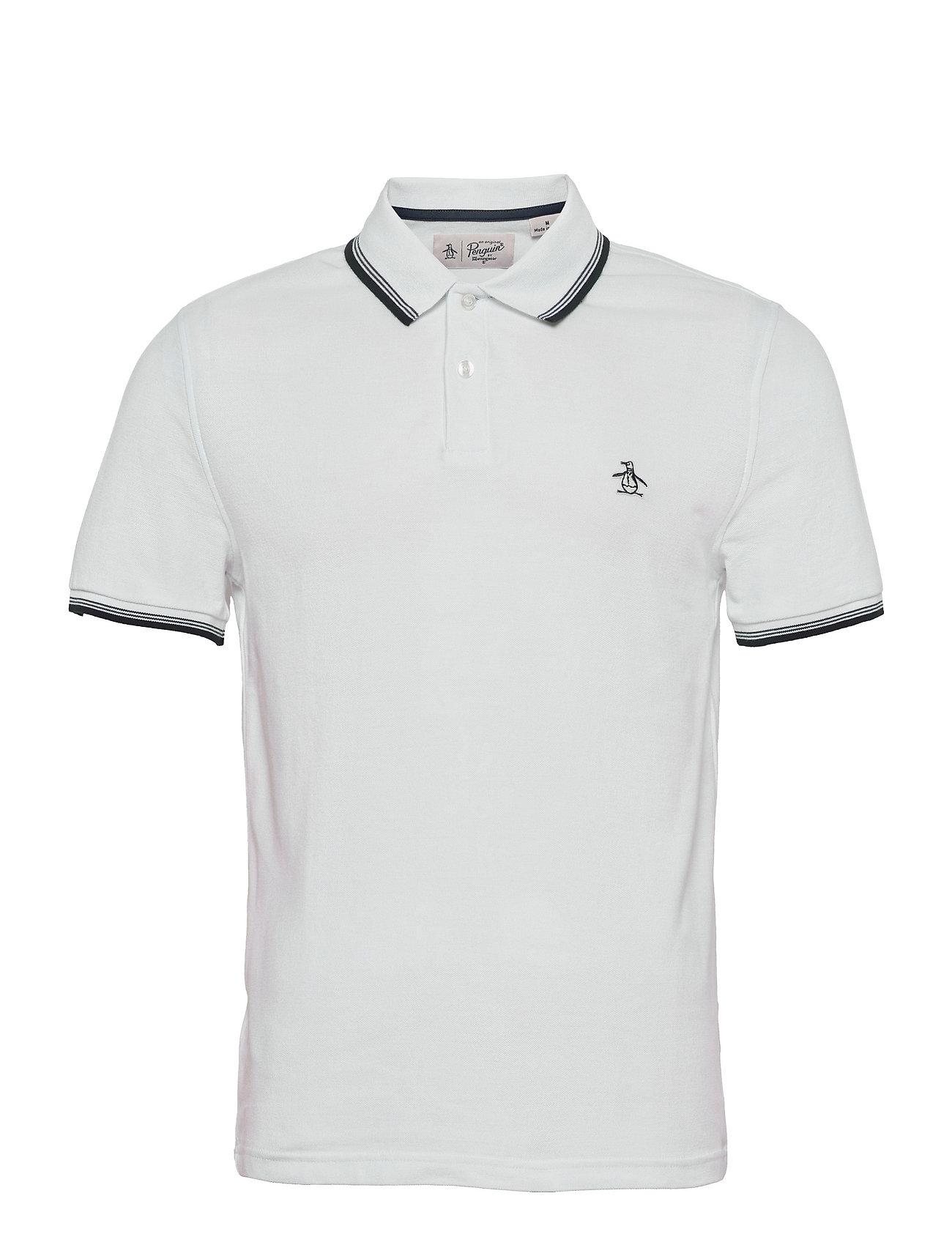 Tipped Collar Polo Shirt Polos Short-sleeved Hvid Original Penguin