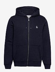 Original Penguin - ZIP THROUGH SMALL LOGO HOODIE - basic sweatshirts - dark sapphire - 1