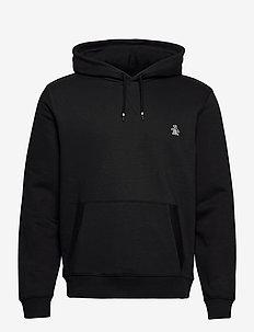 OVER HEAD SMALL LOGO HOODY - basic sweatshirts - true black