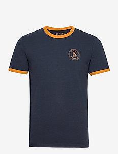STAMP LOGO RINGER T-SHIRT - t-shirts basiques - dark sapphire