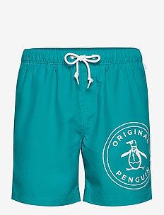 STAMP LOGO ELASTIC V - shorts - caribbean sea
