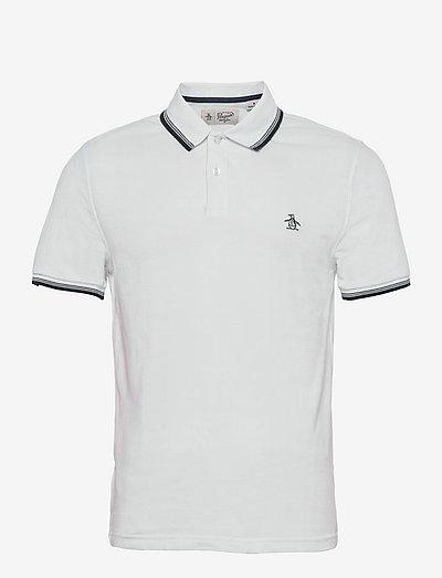 TIPPED COLLAR POLO SHIRT - poloshirts - bright white