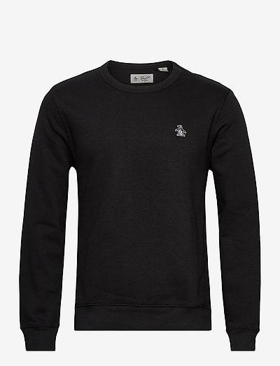 SMALL LOGO CREW NECK SWEATSHIRT - oberteile - true black