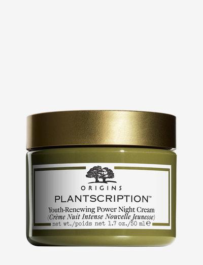 Plantscription™ Youth-Renewing Power Night Cream - päivävoiteet - clear