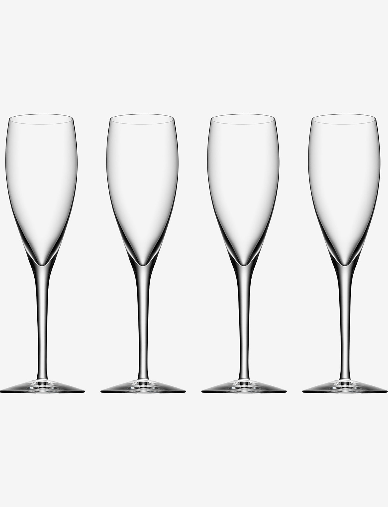 Orrefors - MORE CHAMPAGNE 4-PACK 18CL - champagneglass - clear - 0