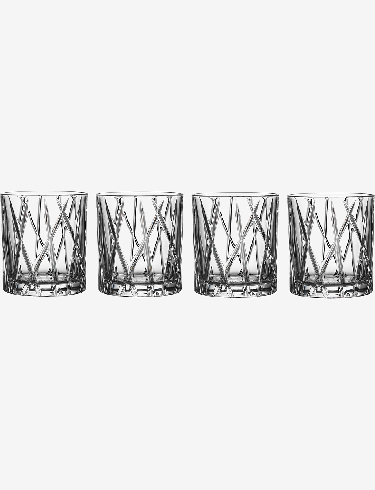 Orrefors - CITY OF 4-PACK 25 CL - whiskyglass & cognacglass - clear - 0