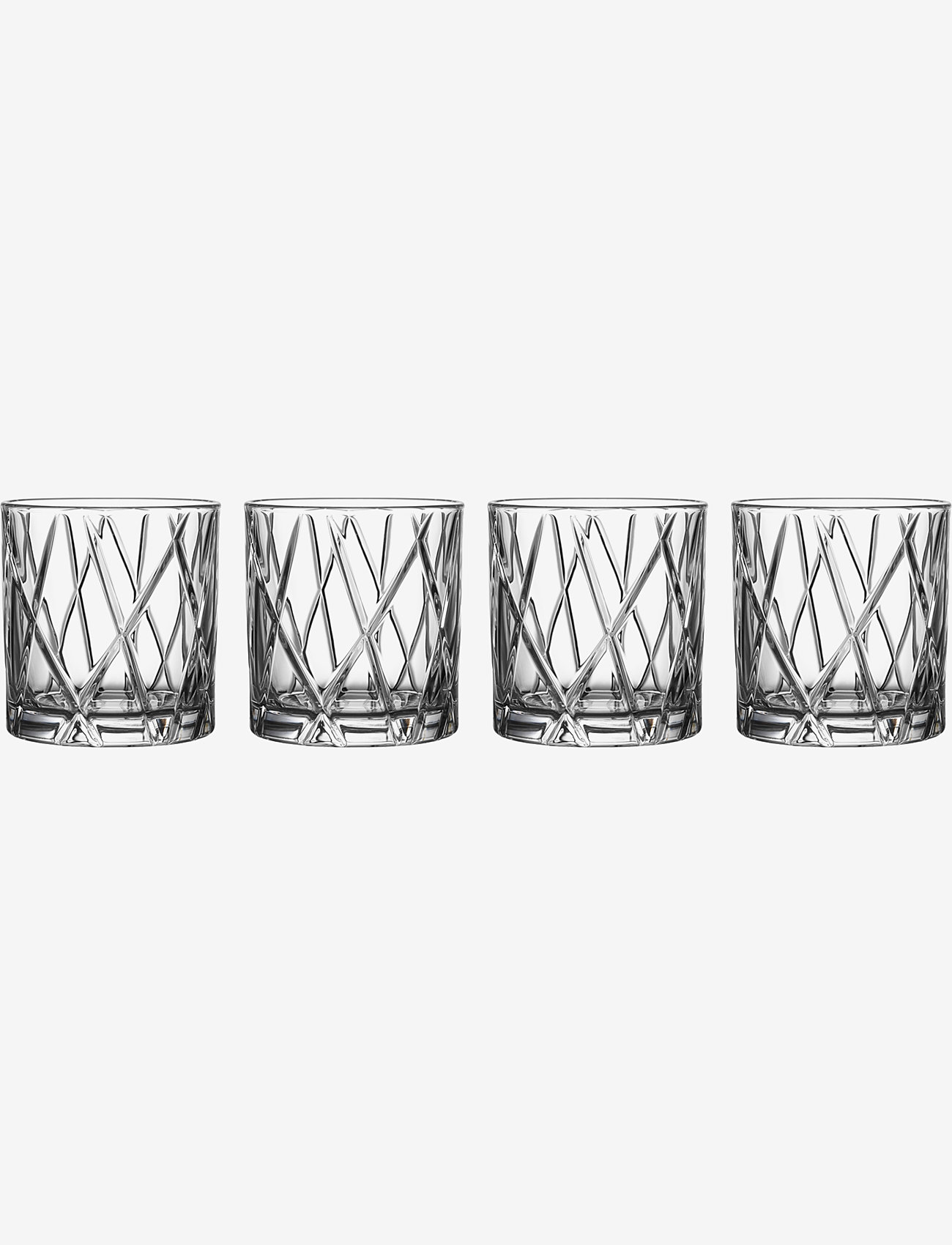 Orrefors - CITY DOF 4-PACK 34 CL - whiskyglass & cognacglass - clear - 0