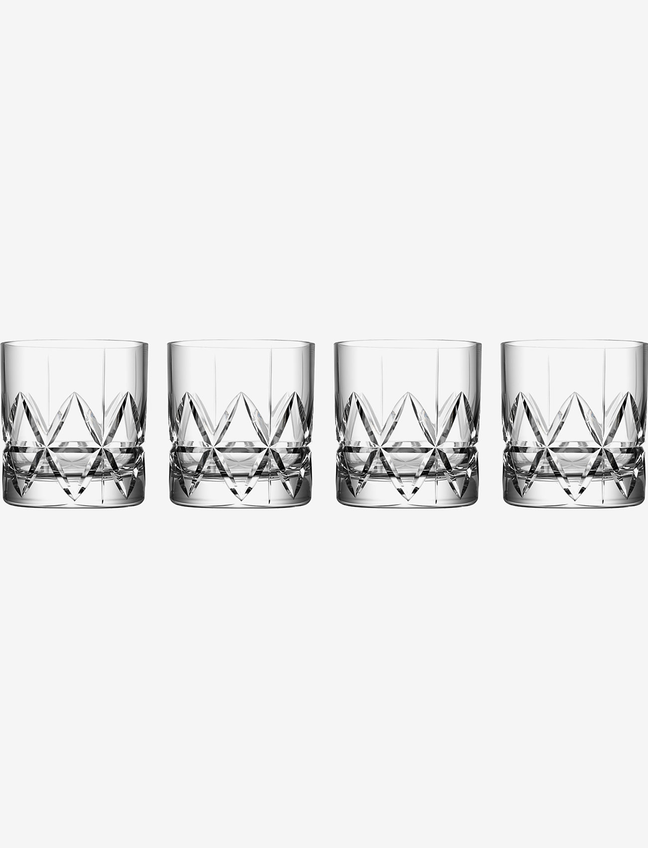 Orrefors - PEAK OLD FASHIONED 25 CL 4-PACK - whiskyglass & cognacglass - clear - 0