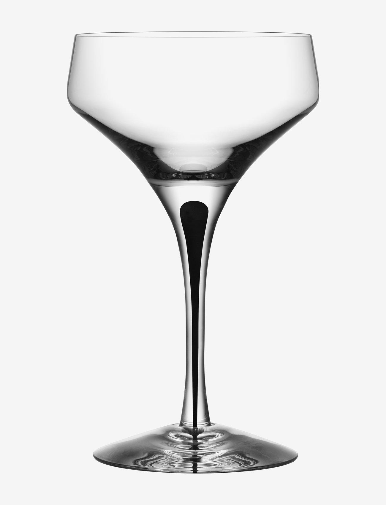 Orrefors - METROPOL COUPE - champagneglass - black - 0