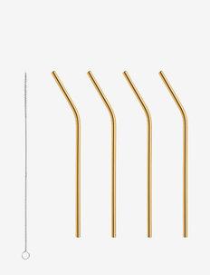 PEAK Straws 4-PACK incl. cleaning brush - mellom 300-500 kr - gold