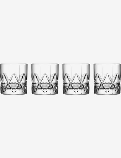 PEAK OLD FASHIONED 25 CL 4-PACK - whiskyglass & cognacglass - clear