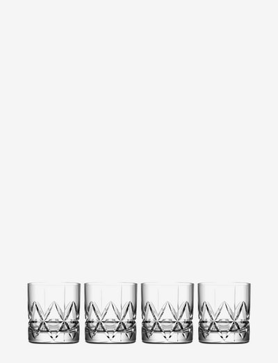 PEAK DOUBLE OLD FASHIONED 34 CL 4-PACK - vannglass - clear