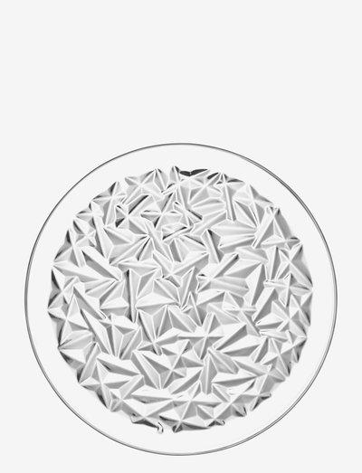 CARAT PLATE - middagstallerkener - clear