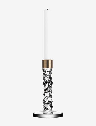 CARAT Candlestick Brass - lysestaker - clear