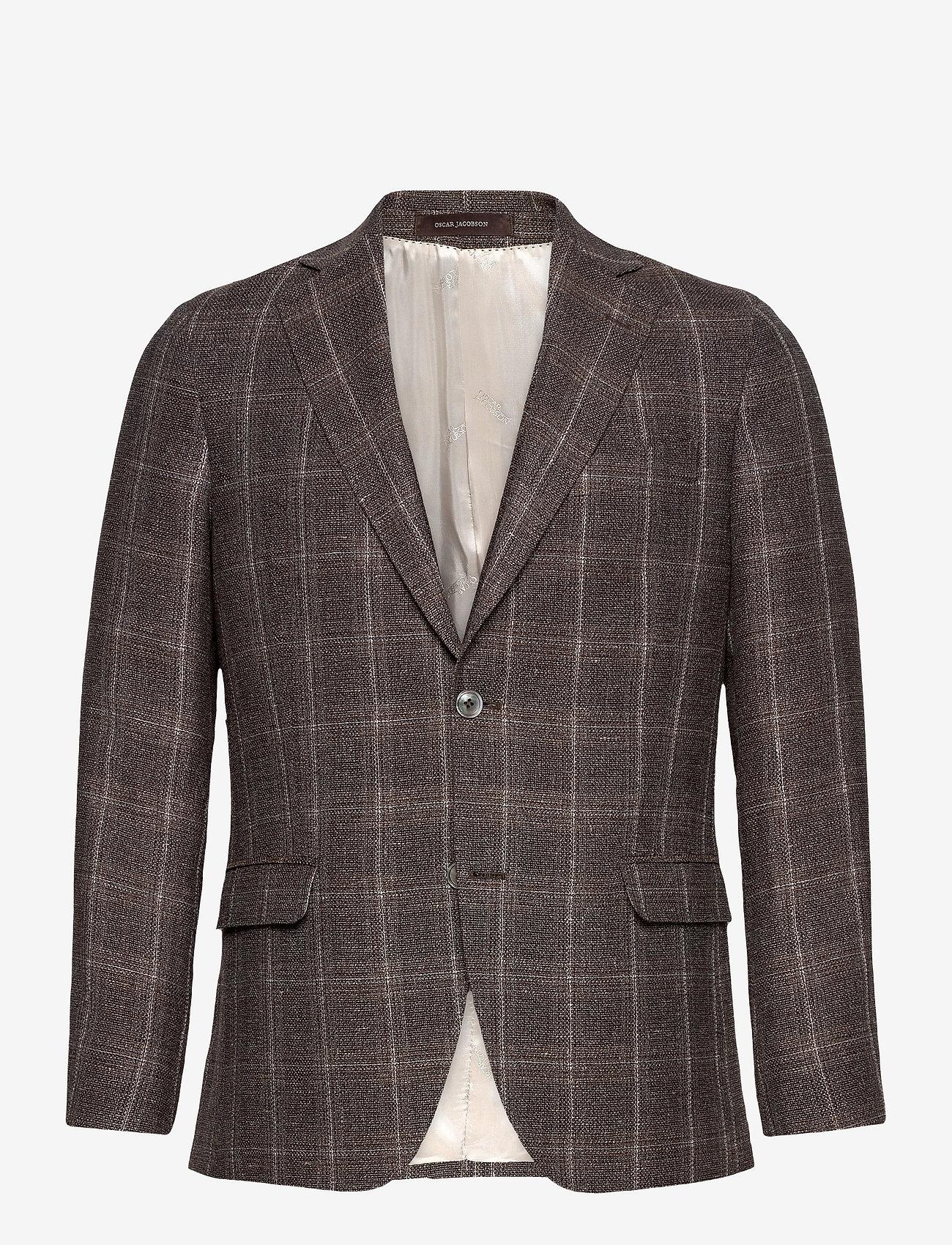 Oscar Jacobson - Fogerty Blazer - single breasted blazers - brown - 0