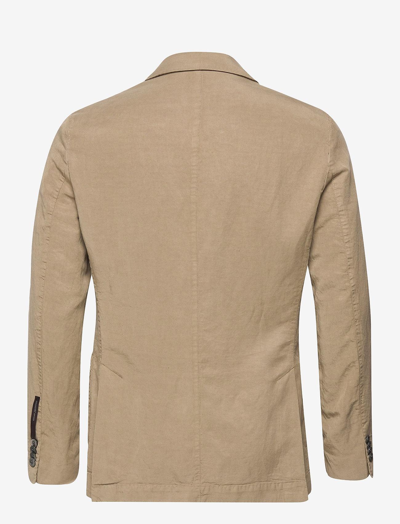 Oscar Jacobson - Ferry Patch Blazer - single breasted blazers - beige - 1
