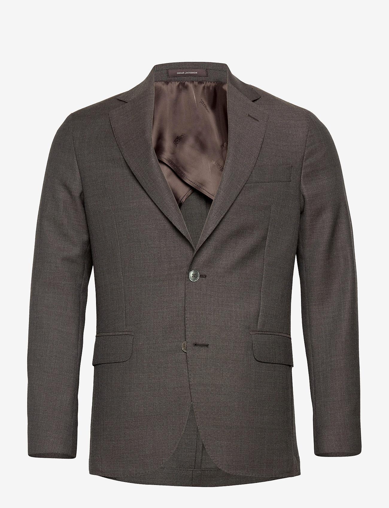 Oscar Jacobson - Egel Soft Blazer - single breasted blazers - brown - 0