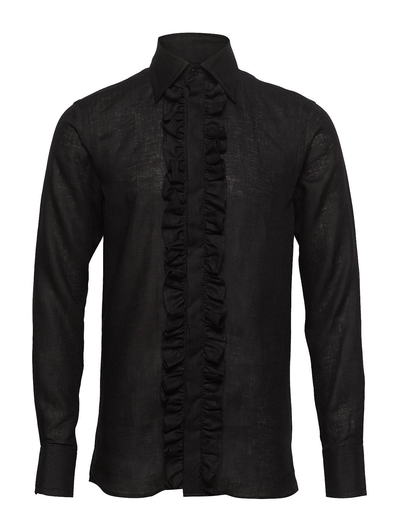 Oscar Jacobson Holme slim shirt - 311 - BLACK