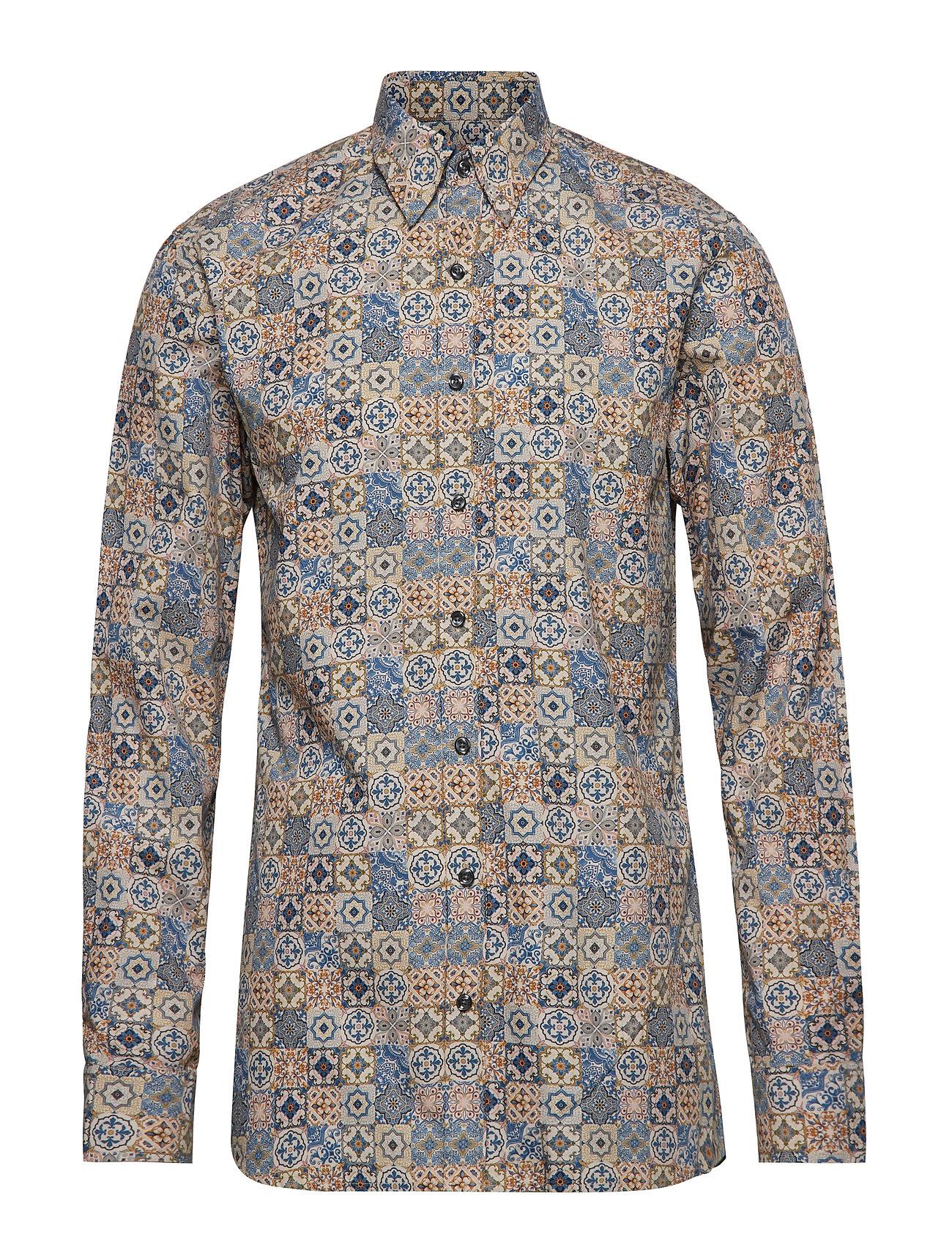 Oscar Jacobson Henning 2 slim shirt wash - 273 - CLOUDY BLUE