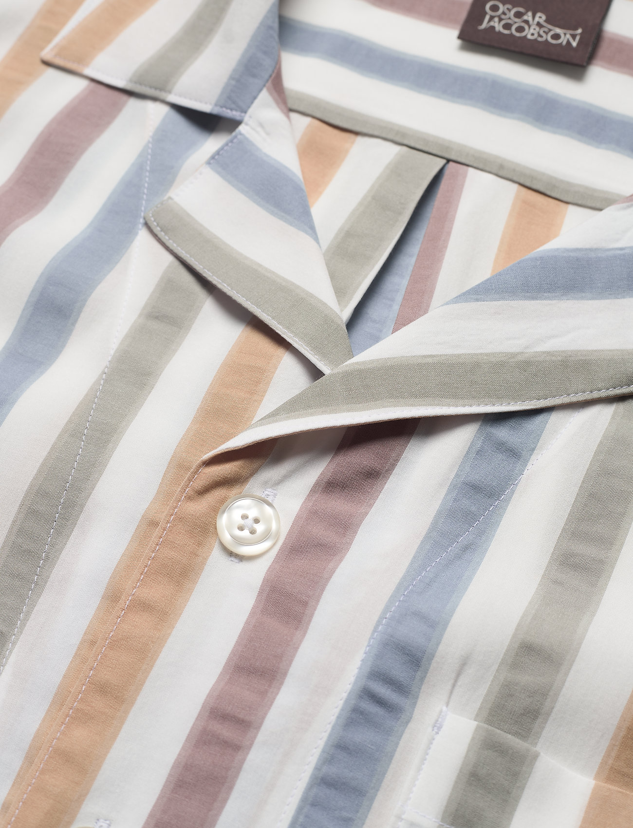 Oscar Jacobson - Hilmer reg shirt - oxford shirts - snow white - 3