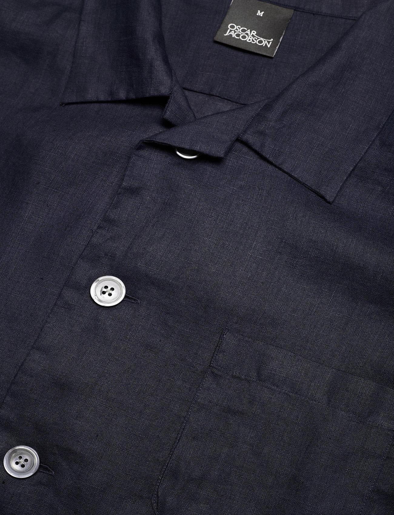 Hanks Reg Shirt Wash (Dark Blue) (84.50 €) - Oscar Jacobson fOLPX