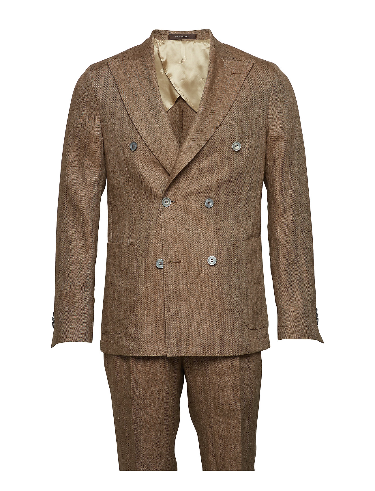 Oscar Jacobson Erik Suit - 583 - CHESTNUT